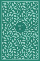 KJV Thinline Bible, Green, Large Print, Red Letter Edtion (Cloth-Bound)