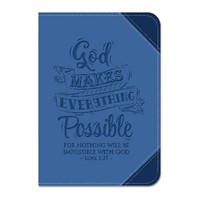 Lux Leather Two Tone Journal God Makes Everything Possible (LeatherLux)