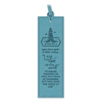 Leather Lux Bookmark Lighthouse