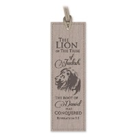 Leather Lux Bookmark Lion