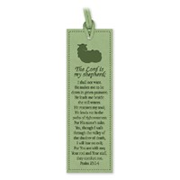 Leather Lux Bookmark The Lord Is My Shepherd