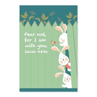 Memo Pad Bunny Friends Isaiah 43 (Notebook / Blank Book)