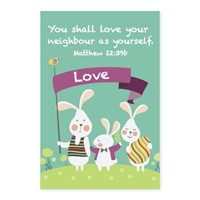 Memo Pad Bunny Friends Matthew 22 (Notebook / Blank Book)