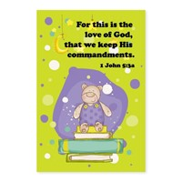 Memo Pad Happy Teddy 1 John 5 (Notebook / Blank Book)