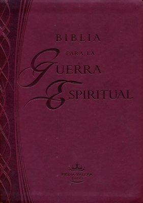 Biblia para la guerra espiritual (Imitación piel color vino)