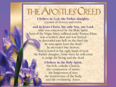 Apostle's Creed Laminated Wall Chart