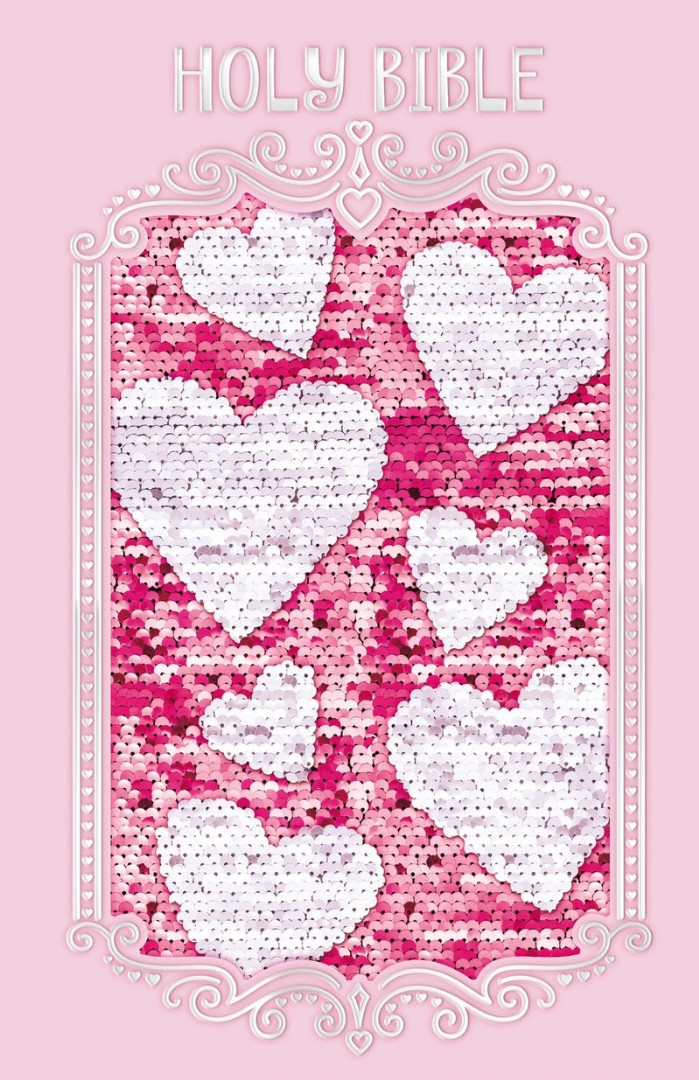 ICB Sequin Sparkle And Change Bible, Pink