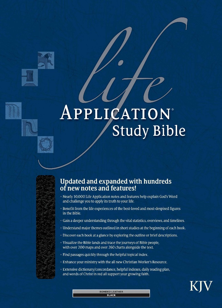 KJV Life Application Study Bible, Black, Indexed