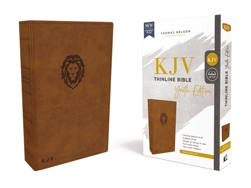 KJV Thinline Bible, Youth Edition, Brown, Red Letter