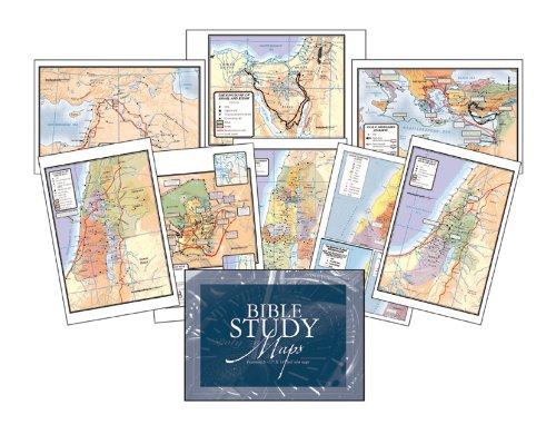Bible Study Maps, Set Of 8