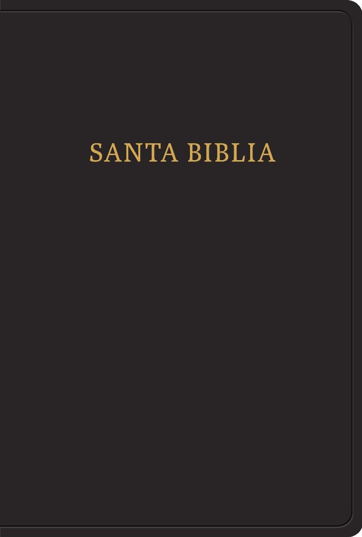RVR 1960 Biblia letra gigante, negro imitación piel con índi