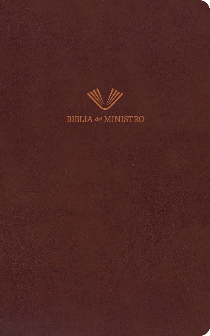 RVR 1960 Biblia del ministro, marrón piel fabricada