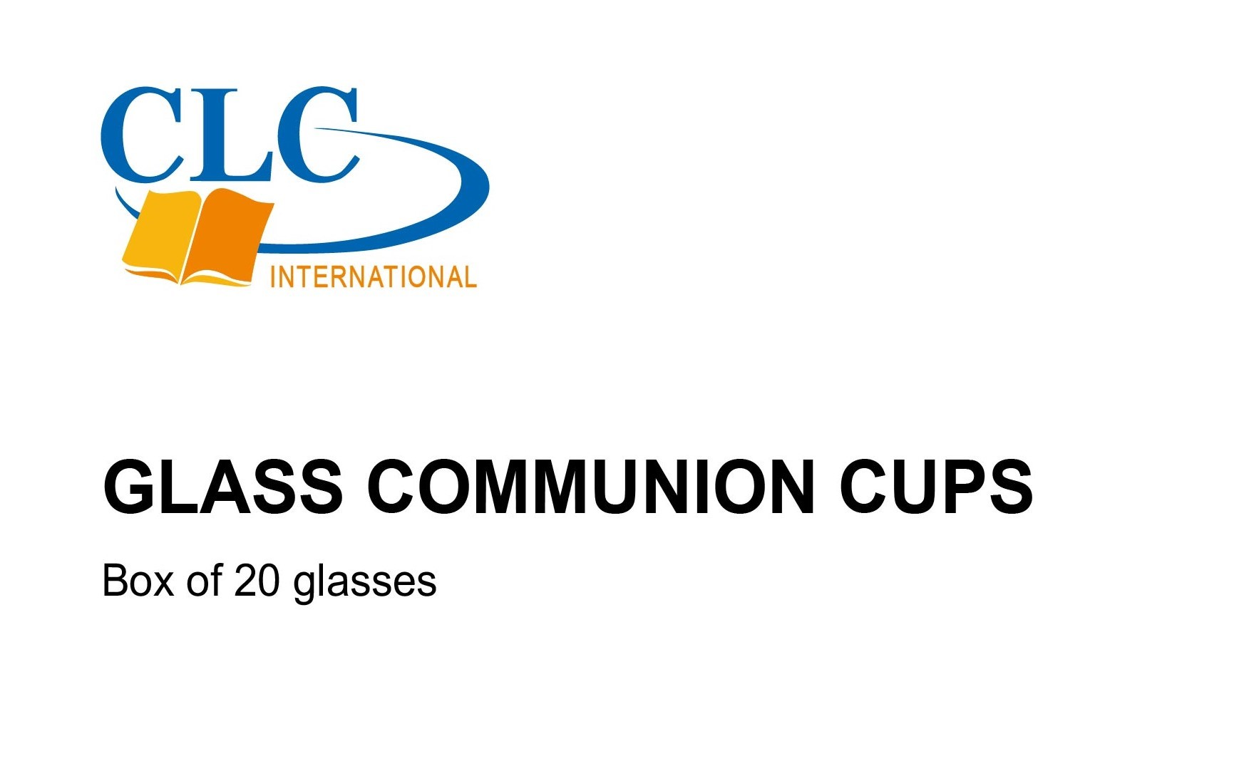 CLC Glass Communion Cups - Pack of 20