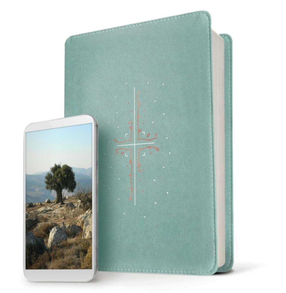 NLT Filament Bible, Teal, Indexed