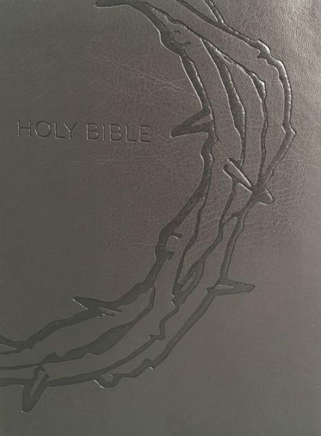KJVER Sword Study Bible, Giant Print, Charcoal, Indexed