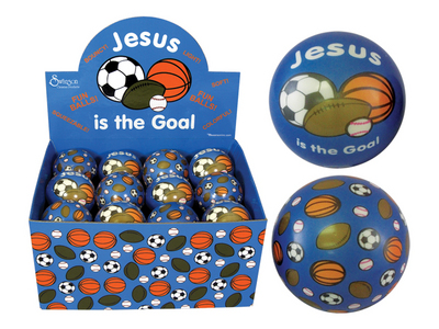 Soft Play Ball - Jesus is the Goal (pack of 24)