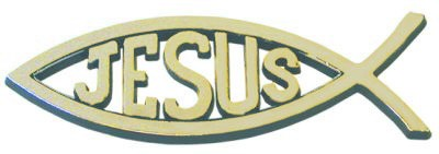 Auto Emblem - Jesus Fish Gold (pack of 6)