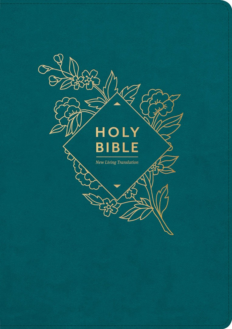 NLT Holy Bible, Giant Print (Red Letter, LeatherLike, Teal B