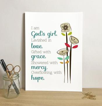 God's Girl - A5 Print