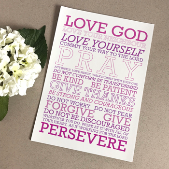 Love God (Purple Mix) A5 Print