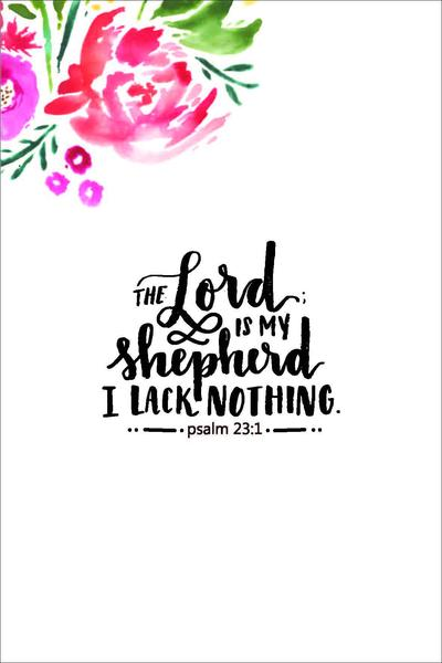 The Lord is My Shepherd A4 Print