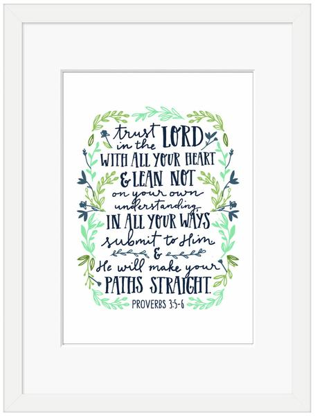 Trust in the Lord Framed Print (6x4)