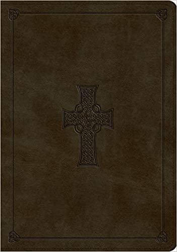 ESV Study Bible, TruTone, Olive, Celtic Cross Design