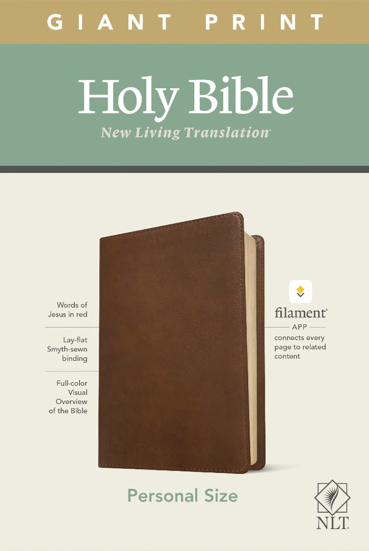 NLT Personal Size Giant Print Bible, Filament Edition, Brown