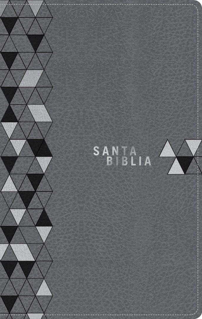 Santa Biblia NTV, Edición zíper, Gris suave (SentiPiel)