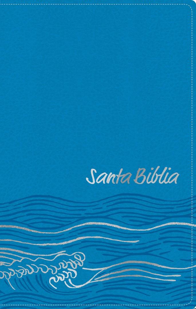 Santa Biblia NTV, Edición zíper, Océano (SentiPiel, Azul cla