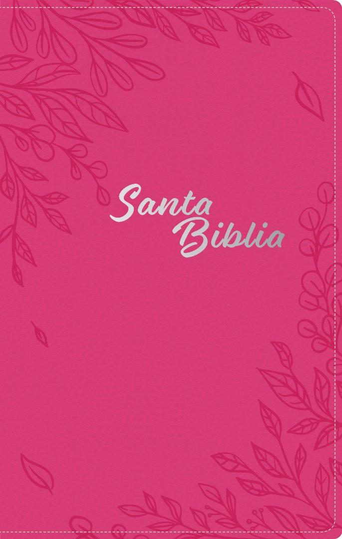 Santa Biblia NTV, Edición zíper, Flores rosa (SentiPiel)