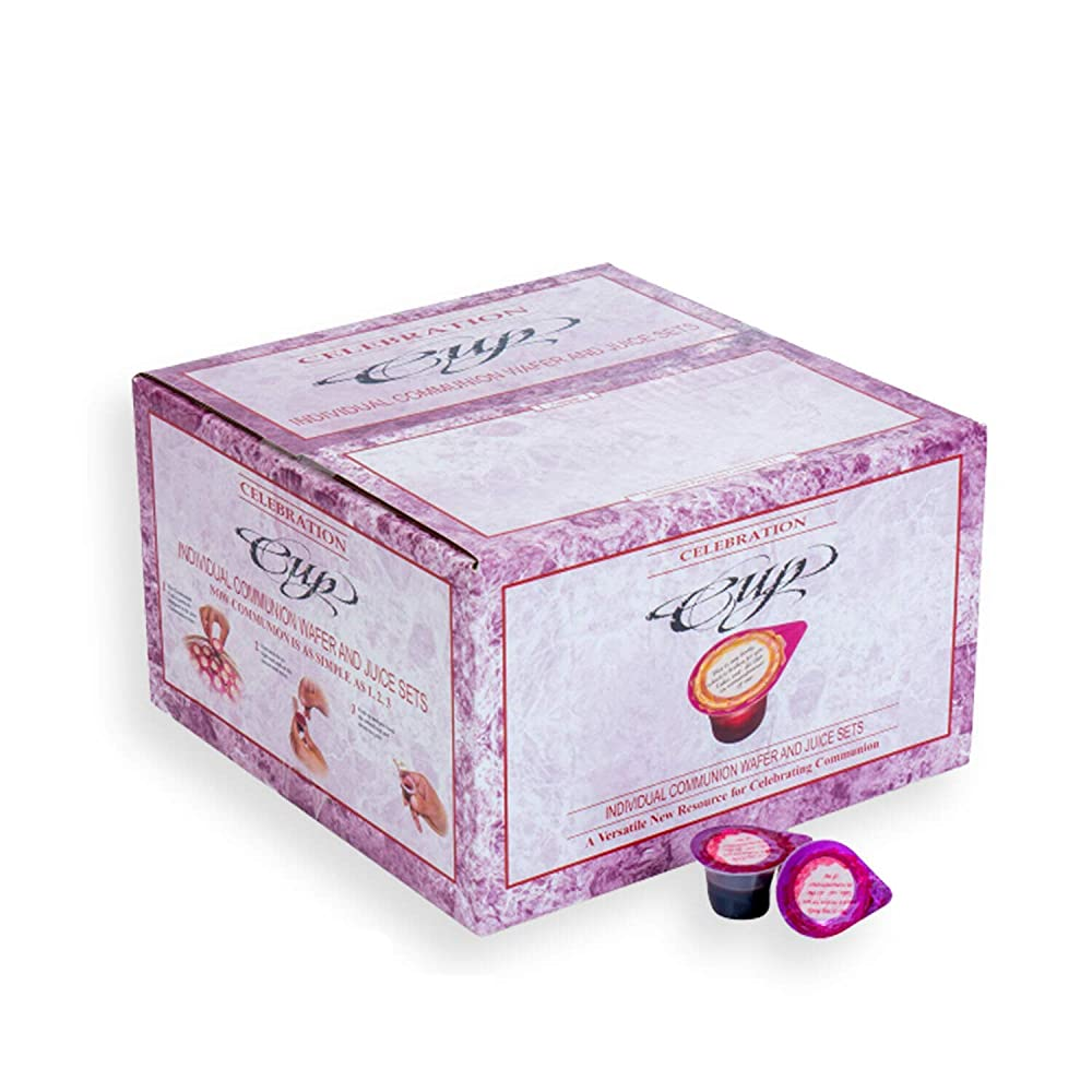 Celebration Cup Box of 500 - Prefilled Communion Bread & Cup