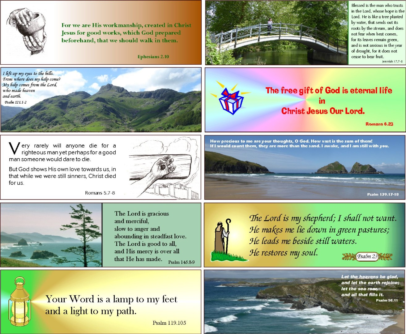 24 Assorted Evangelistic and Encouraging Bookmarks Series 2