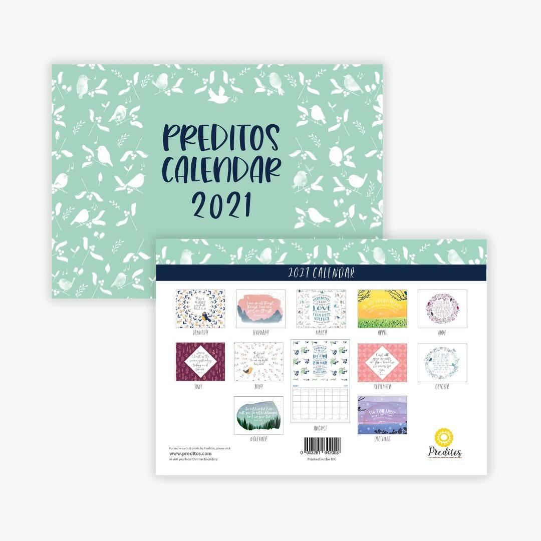 Preditos A4 Foldout Calendar 2021