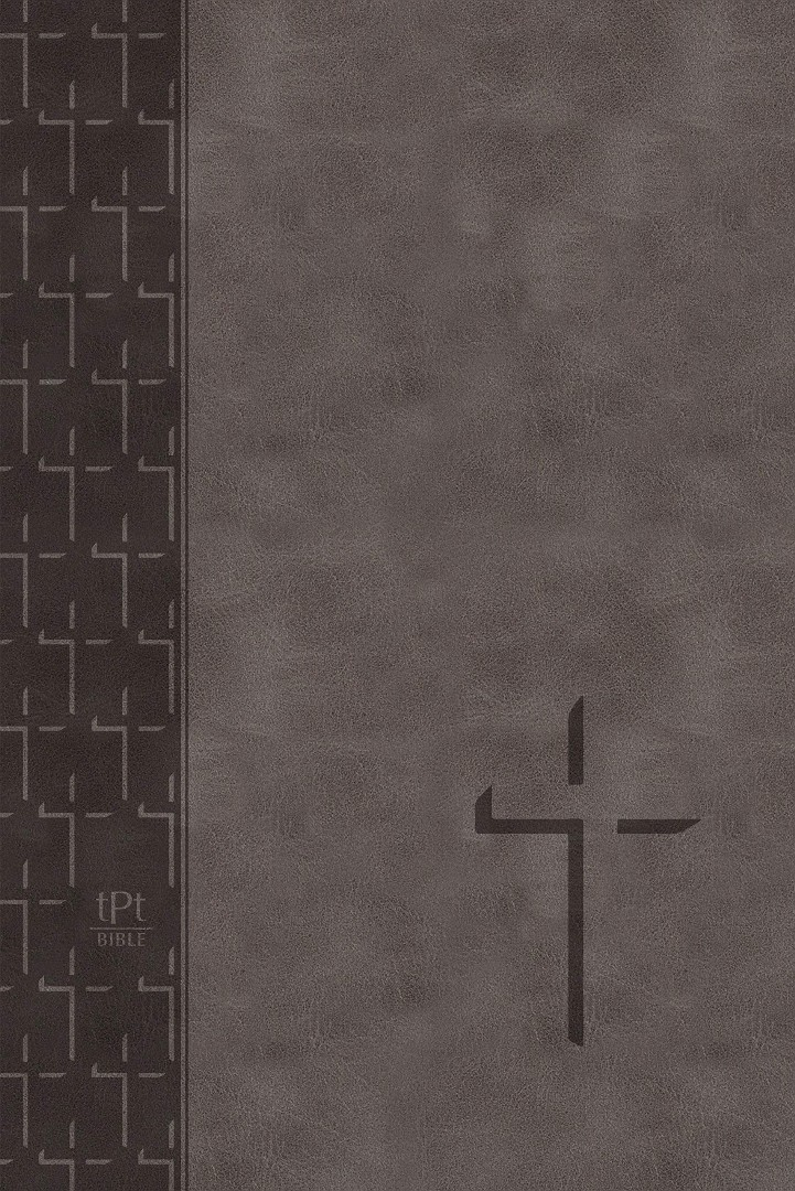 TPT Large Print New Testament, Grey