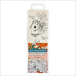 Colouring Bookmarks: Orange (pack of 5)