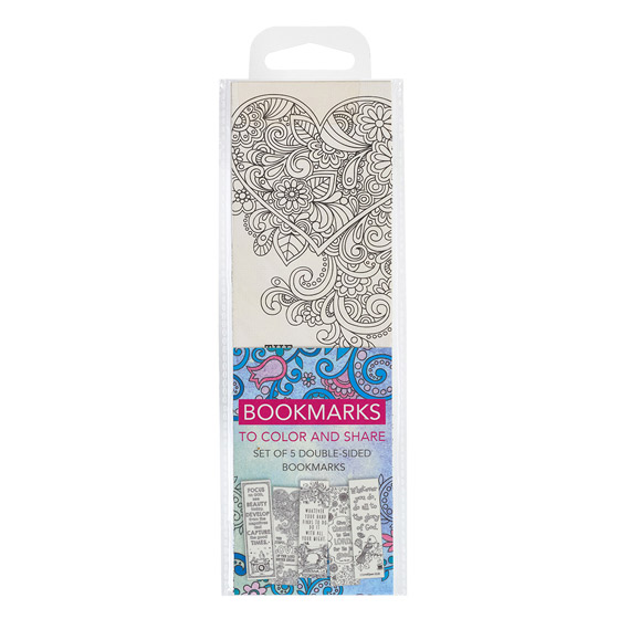 Colouring Bookmarks: Blue (pack of 5)