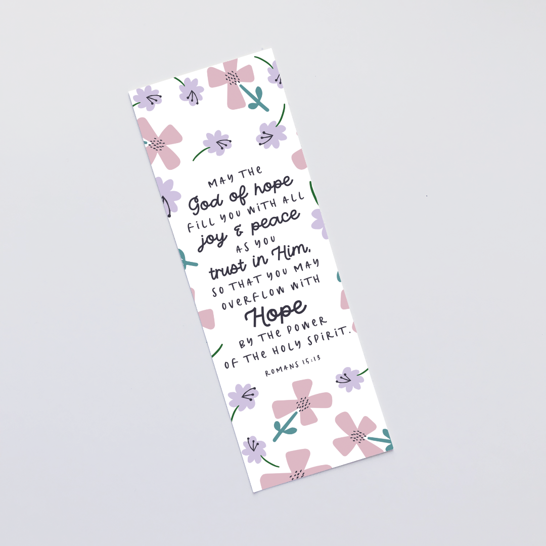 May The God Of Hope (Petals) Bookmark