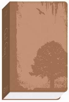 GW God Guy Bible Vintage Brown, Grunge Tree Design Duravella
