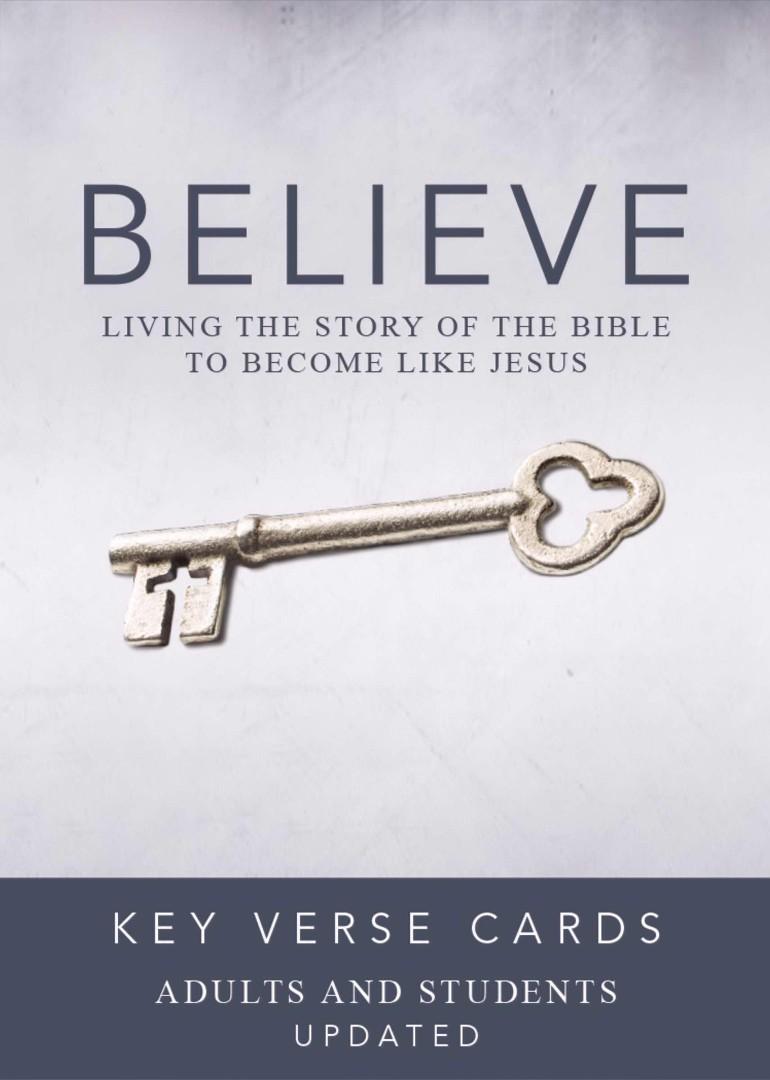 Believe Key Verse Cards: Adult/Student