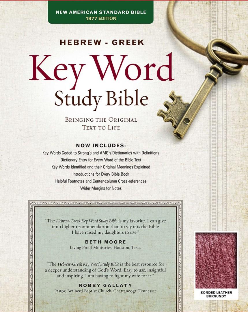 NASB Hebrew-Greek Key Word Study Bible BL Burgundy Indexed