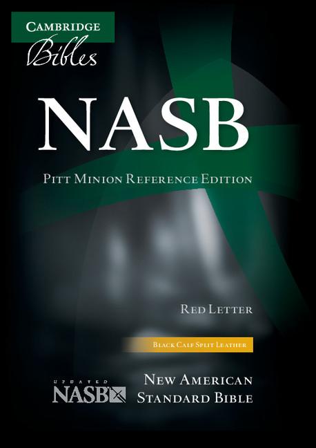 NASB Pitt Minion Reference Bible, Black Calfsplit Leather