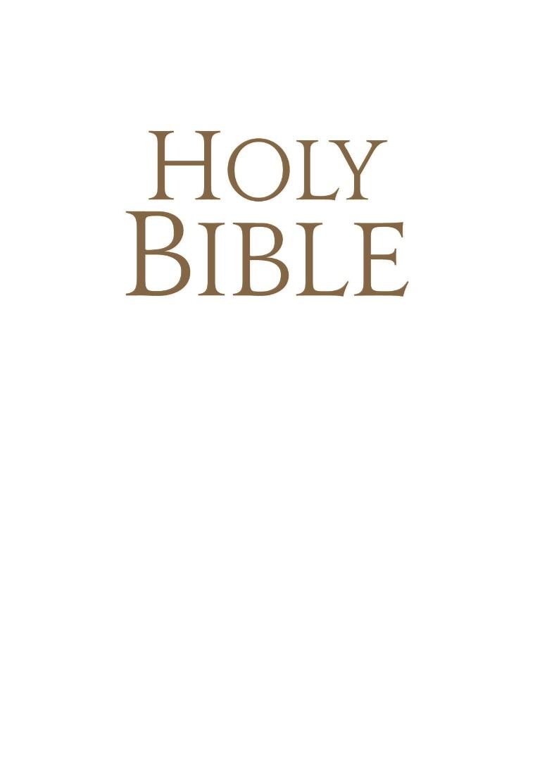 NJB Pocket Bible Bonded Leather White