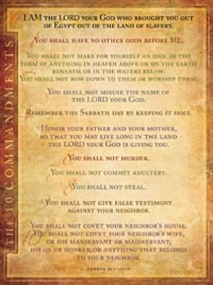 Ten Commandments NIV Wall Chart