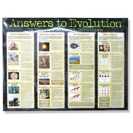 Answers to Evolution, Laminated Wall Chart