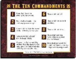 Ten Commandments Av        20X26