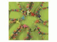 Bracelet Nylon String w/Tube Wood w/Howlite - Pack of 12