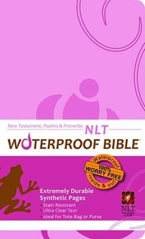 NLT Waterproof New Testament, Psalms & Proverbs Pink Brown