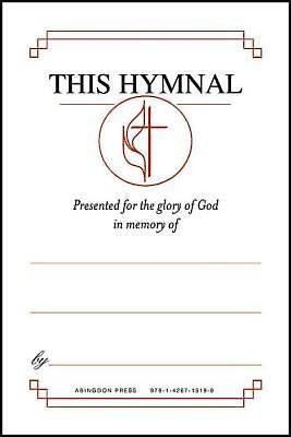 "United Methodist Hymnal Bookplates """"In memory of..."""" (Pkg"