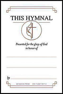 "United Methodist Hymnal Bookplates """"In honor of..."""" (Pkg o"